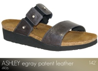 Ashley Gray Patent Leather